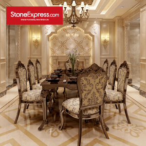 Beige & Gold Marble Floor Tiles Design Patterns CM42