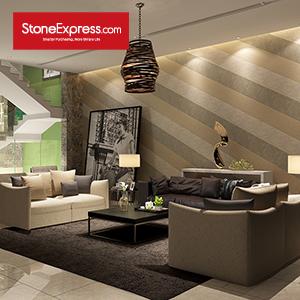 Beige & Grey & Gold Marble Deorative Stone Feature Wall BJQ-22