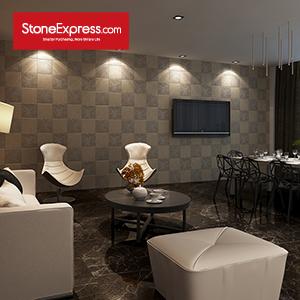 Beige Dark & Light Decorative Marble Tiles BJQ-23