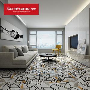 White & Black & Grey Light Marble Tiles Design Patterns BM05
