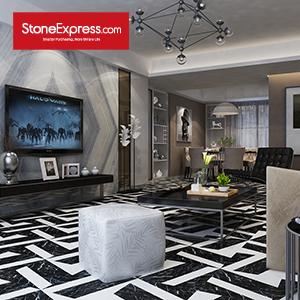 White & Black Marble Tiles Design Patterns BM15