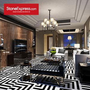 Black and White Marble Tiles Design Patterns BM14