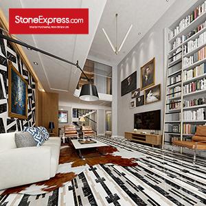 Grey & White & Black Marble Floor Design Patterns BM02