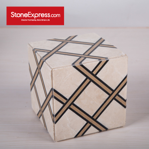 Marble Waterjet Design Patterns Cubes for Display MFHZ-1515