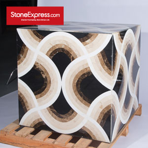 Marble Waterjet Design Patterns Cubes for Display MFHZ-88-18