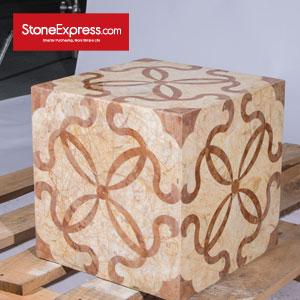 Marble Waterjet Design Patterns Cubes for Display MFHZ-33-41