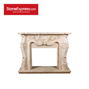 Cappuccino Marble  Engraving Fireplace YZ-BL415-301