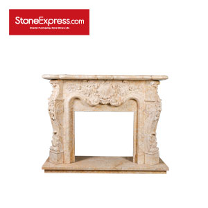 Golden Spider Marble Engraving Fireplace YZ-BL415-302