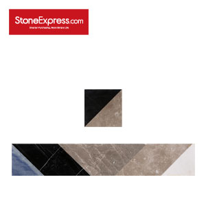 Grey & Grey & Black Marble border Tiles Unique Design CD33