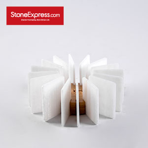 Superthin Tile Zera White Marble  Candle holder LZT-BCY-002S