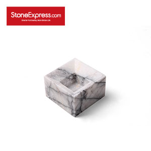 Slopping side Marble Flowerpot for Succulent Plants HP-XXM-001S