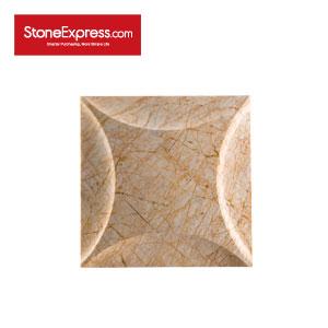 Golden Spider Marble CNC Engraving 3D Wall Tiles BJQ56-33-JKS