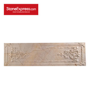 Sofitel Gold Marble CNC Engraving Stone Claddings CNC18-304