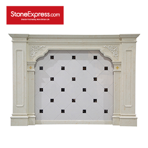 Artifical Marble White and Dark Color Feature Wall BJQ-26