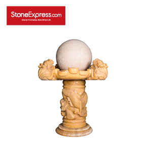 Beige Gold Marble Fortune Ball FSQ-002