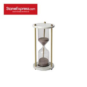 Bianco Carrara Marble Stone Sand clock SL-003