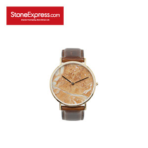 Diana Pink Marble Luxury Watch with Genuine Leather Strap KSB-DAN-1002A