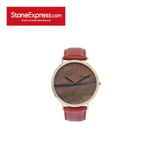 Red Quartzite Marble Luxury Watch KSB-QGYW-1002