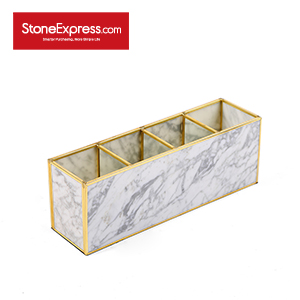 Carrara White Marble Lidded Jewelry Box SSH-KLLB-011M