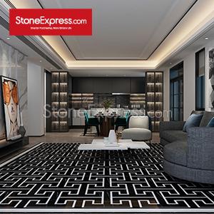 Black-White Marble Composite Floor Tiles 02