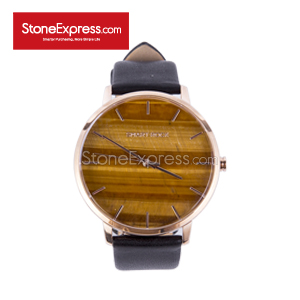 Tiger Eye Deluxe Watch with Genuine Leather Strap SR-HY