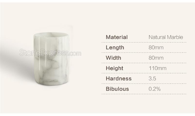 Calacatta White Flower Vase Decorative Items Bzbk Xhb